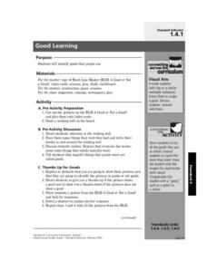 Good Learning Lesson Plan
