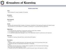 Good Practices for Using Crusaders of Learning Lesson Plan