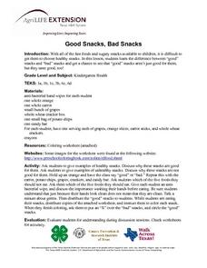 Good Snacks, Bad Snacks Lesson Plan