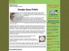 Google Goes Public Lesson Plan