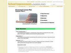 Government Lesson Plan: Lesson 1 Lesson Plan