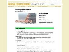 Government Lesson Plan:  Lesson Plan 12 Lesson Plan