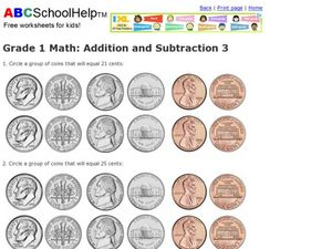 Grade 1 Math: Addition and Subtraction 3 Worksheet