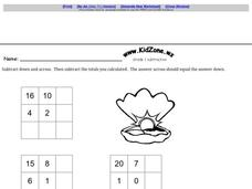 Grade 1 Subtraction Worksheet