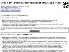 Grade 10 - Personal Development (Healthy Living) Lesson Plan