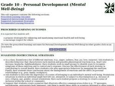 Grade 10 - Personal Development (Mental Well-Being) Lesson Plan