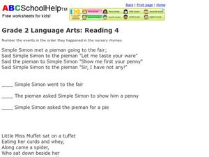 Grade 2 Language Arts: Reading 4 Worksheet