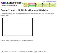 Grade 2 Math: Multiplication and Division 1 Worksheet
