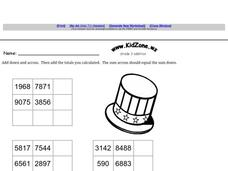 Grade 3 Addition: Addition Puzzles Worksheet
