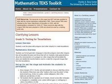 Grade 5: Testing for Tessellations Lesson Plan