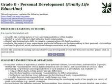 Grade 8 - Personal Development (Family Life Education) Lesson Plan