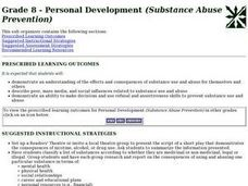 Grade 8 - Personal Development (Substance Abuse Prevention) Lesson Plan