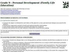 Grade 9 - Personal Development (Family Life Education) Lesson Plan