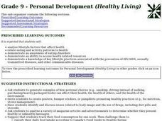 Grade 9 - Personal Development (Healthy Living) Lesson Plan