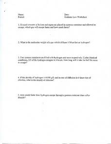 Grahams Law Worksheet