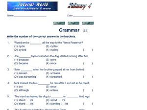 Grammar 3 Worksheet