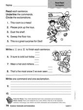 Grammar: Commands and Exclamations Worksheet