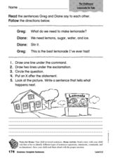Grammar: Complete Sentences Worksheet