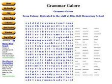 Grammar Galore: Word Search Worksheet