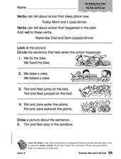 Grammar: Now and in the Past Worksheet