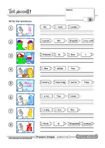 Grammar Test 13 Worksheet