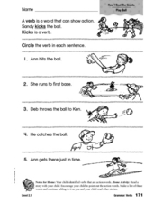 Grammar: Verbs: How I Beat the Giants Worksheet