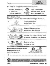 Grammar: Word Order in Sentences Worksheet
