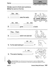 Grammar: Writing with Pronouns Worksheet