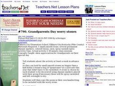 Grandparents Day worry stones Lesson Plan