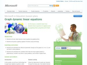 Graph Dynamic Linear Equations Lesson Plan
