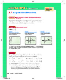 Graph Rational Functions on a Graphing Calculator Lesson Plan