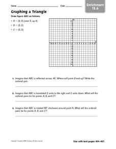 Graphing a Triangle: Enrichment Worksheet
