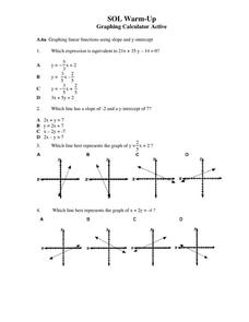Graphing Linear Functions 9th Grade Worksheet | Lesson Planet