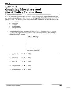 graphing monetary and fiscal policy interactions 9th 12th grade worksheet lesson planet. Black Bedroom Furniture Sets. Home Design Ideas