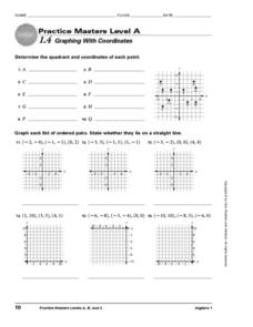 Graphing With Coordinates Worksheet