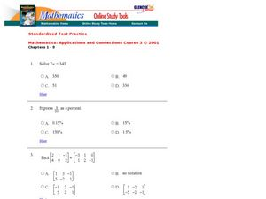 Graphs and Equations Worksheet