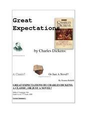 Great Expectations By Charles Dickens: A Classic, Or Just a Novel? Lesson Plan