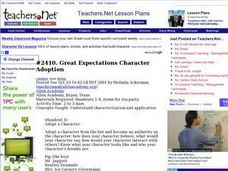 Great Expectations Character Adoption Lesson Plan