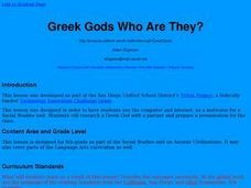 Greek Gods Who Are They? Lesson Plan