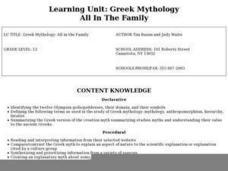 Greek Mythology: All in the Family Lesson Plan