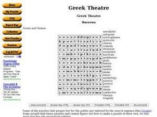 Greek Theatre Worksheet
