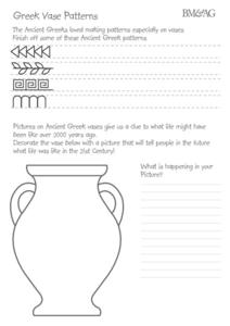 greek vase patterns 2nd 5th grade worksheet lesson planet. Black Bedroom Furniture Sets. Home Design Ideas