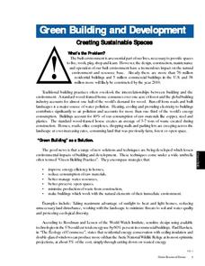 Green Building and Development Worksheet