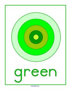 Green Bullseye Worksheet