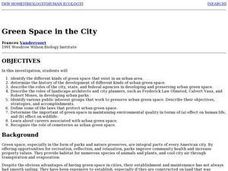 Green Space in the City Lesson Plan