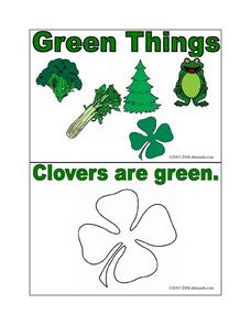 Green Things Worksheet