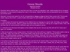 Green Weeds Lesson Plan