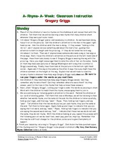 Gregory Griggs Lesson Plan