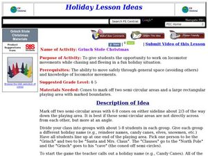 Grinch Stole Christmas Lesson Plan