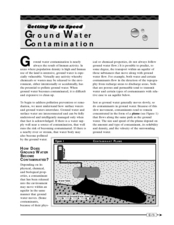 Ground Water Contamination Worksheet